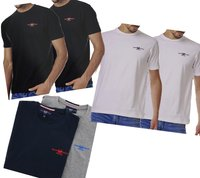 2er Pack HARVEY MILLER POLO CLUB T-Shirt klassische Herren Baumwoll-Shirts T-Shirts