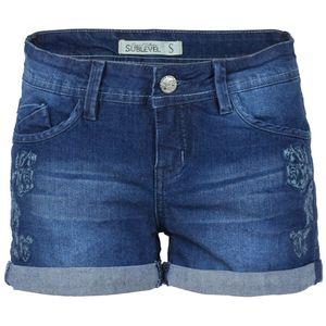 SUBLEVEL Damen Jeansshorts Blau
