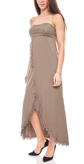 Robe de buffle femme de rêve maxi robe de plage marron