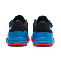 PUMA Tenaz V Jr Kinder Low Boot Sneaker Hallenschuhe Azurblau-Weiss-Schwarz-Rot Schuhe – Bild 6