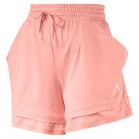 PUMA Soft Sports Drapey s Damen Shorts Peach Bud Heather