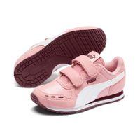 PUMA Cabana Racer SL V PS Kinder Low Boot Sneaker Bridal Rosa-Weiss-Weinrot