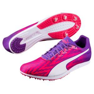 PUMA evoSPEED Distance 7 Wn Damen Low Boot Sneaker Sportschuhe Sparkling Cosmo-Violett-Weiss Schuhe