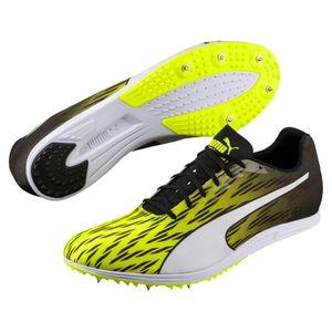 PUMA evoSPEED Distance 7 Herren Low Boot Sneaker Sportschuhe Gelb-Schwarz-Weiss Schuhe