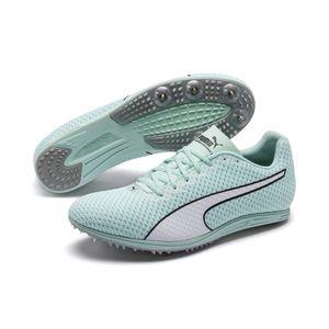 PUMA evoSPEED Distance 8 Wn Damen Low Boot Sneaker Sportschuhe Aquablau-Weiss Schuhe