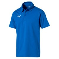 PUMA LIGA Casuals Herren Poloshirt Electric Blau Lemonade-Weiss