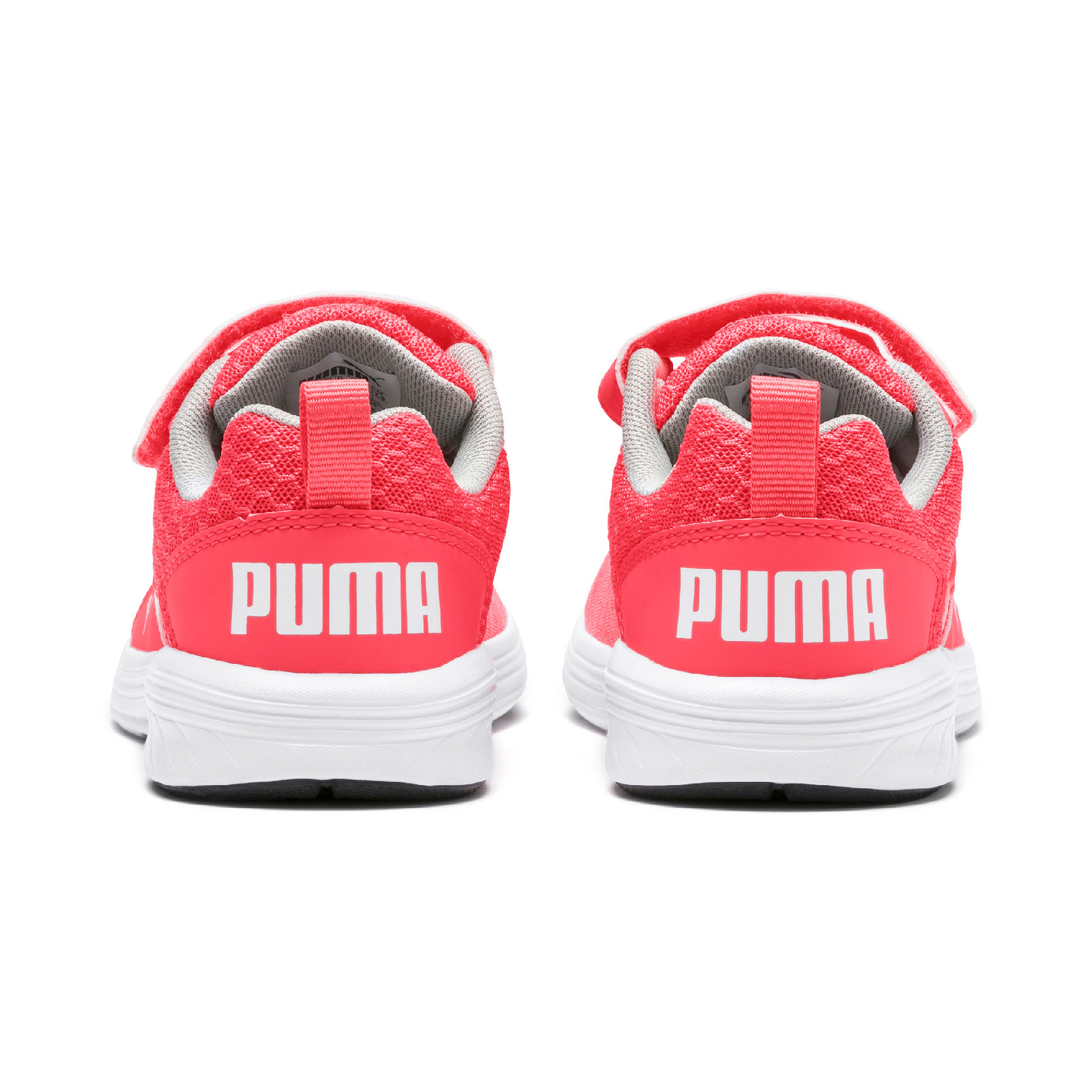 Details zu PUMA NRGY Comet V PS Kinder Low Boot Sneaker Sportschuhe Calypso Coral Weiss
