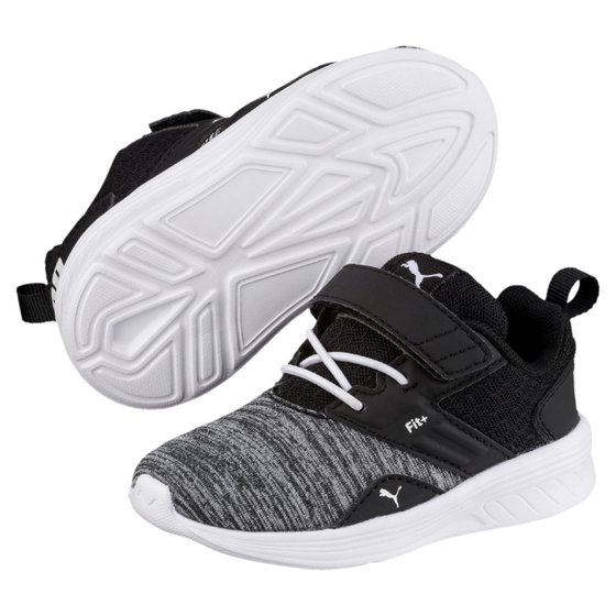 PUMA Comet V Inf Kinder Low Boot Sneaker Weiss-Schwarz