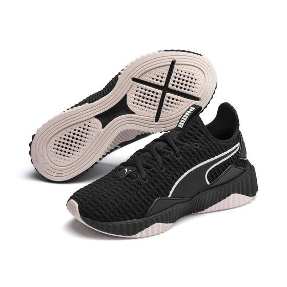 PUMA Defy Wns Damen Low Boot Sneaker Sportschuhe Schwarz-Pastel Parchment Schuhe