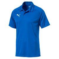PUMA LIGA Sideline Herren Poloshirt Electric Blau Lemonade-Weiss 001
