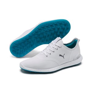 PUMA IGNITE Statement Low WP Damen Low Boot Golfschuhe Weiss-Grau Schuhe