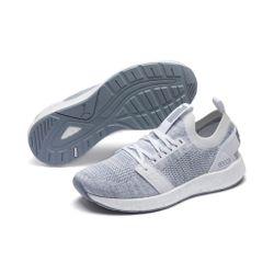 9a8ac002af793a PUMA NRGY Neko Engineer Knit Wns Damen Low Boot Sneaker Sportschuhe Weiss -Grau