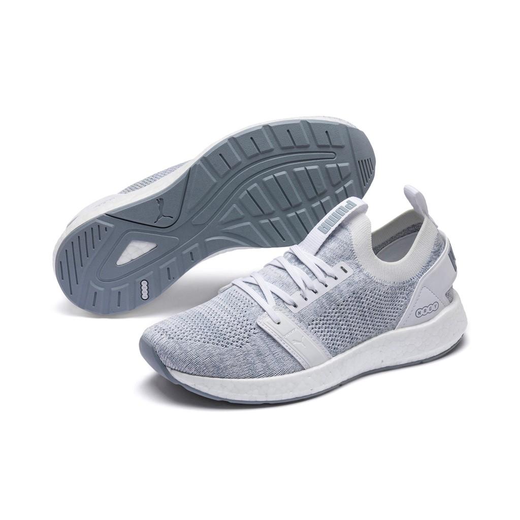 PUMA NRGY Neko Engineer Knit Wns Damen Low Boot Sneaker Sportschuhe  Weiss-Grau