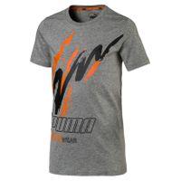 PUMA Alpha Holiday B Kinder T-Shirt Medium Grau Heather