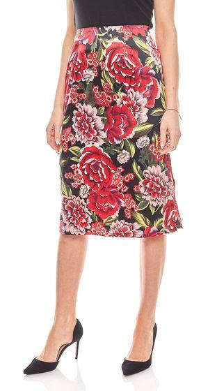 Aniston Rock knielanger Damen Jerseyrock mit Blumenmuster Pink