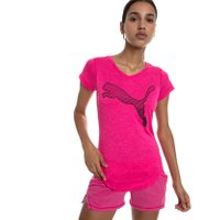 PUMA Heather Cat Damen T-Shirt Violett Heather 001
