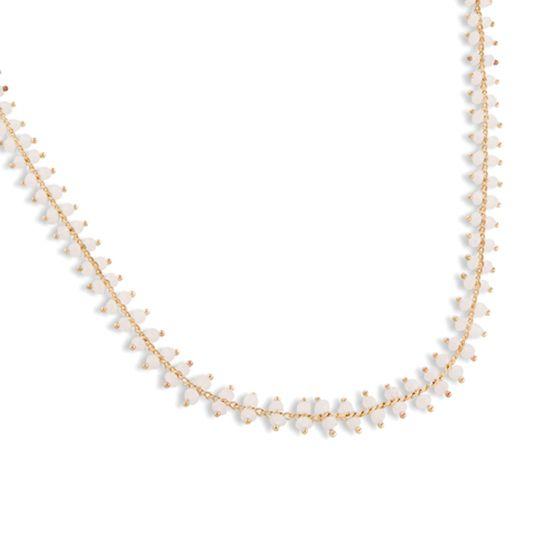 PEARLS FOR GIRLS Schmuck dezente Damen Halskette mit Glasperlen Gold