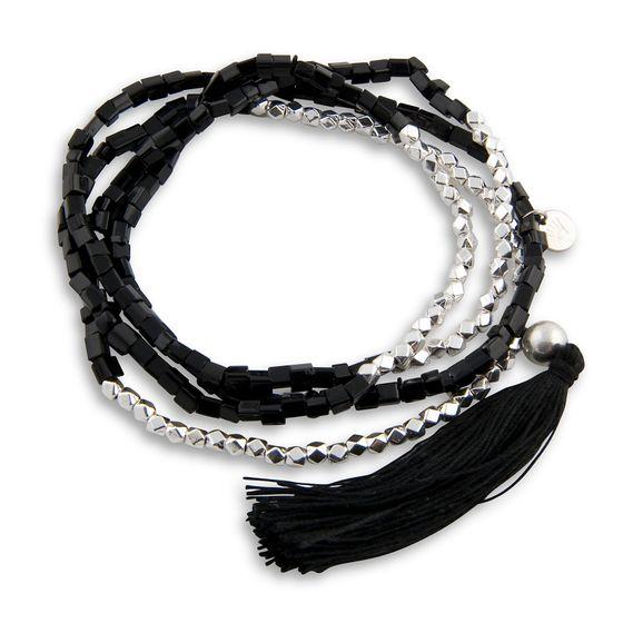 PEARLS FOR GIRLS Jewelry Great Ladies Bracelet with Tassel Black