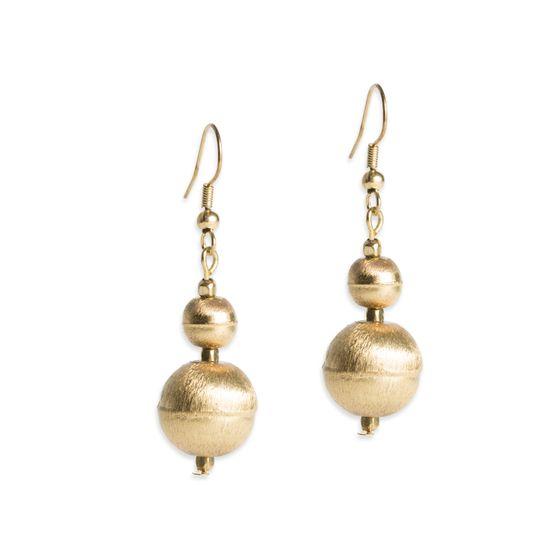 PEARLS FOR GIRLS Earrings Elegant Ladies Ball Earrings Gold