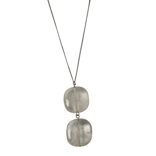 PEARLS FOR GIRLS necklace noble ladies stainless steel necklace with crystals silver