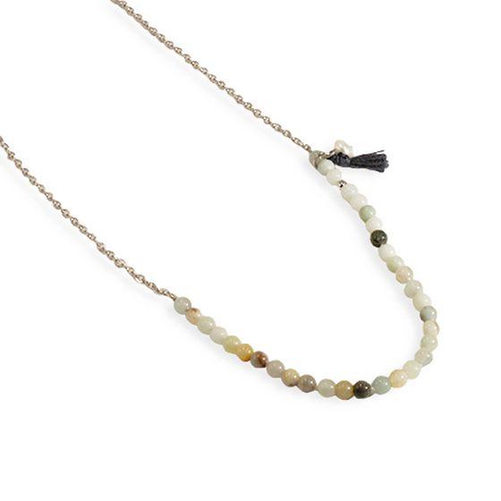 Collier PERLES POUR LES FILLES Collier élégant pour dames avec Amazonite et argent perle deau douce