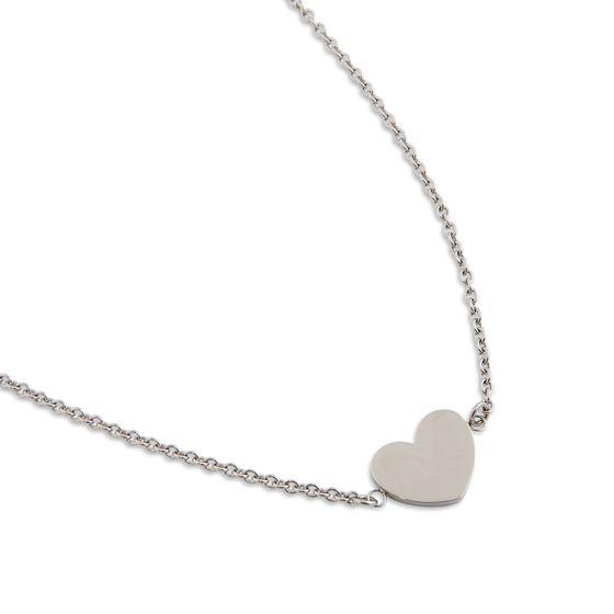 PEARLS FOR GIRLS Kette romantische Damen Halskette mit Herzanhänger Silber