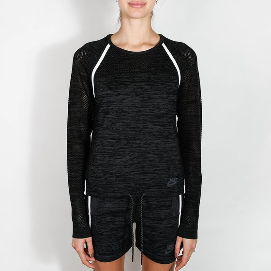 Nike Wmns Tech Knit Crew - Black Sweater