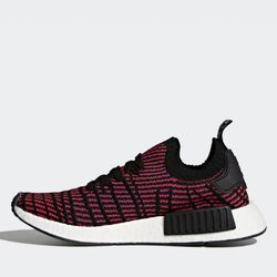 buy popular 38677 0955b Adidas NMDR1 STLT Primeknit - Red  Core Black  Red  Blue Sneaker