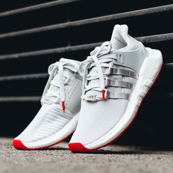 "Adidas EQT Support 93/17 Boost ""Red Carpet Pack"" - Matte Silver / Matte Silver / Ftwr White Sneaker"