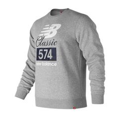 New Balance MT81574 Classic 574 Crew - Athletic Grey Sweater 001