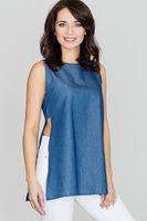 Lenitif Damen Bluse Blau