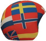 Coolcasc Skihelm Cover - Flags