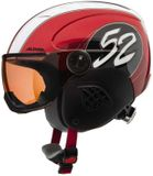 Alpina Carat Visor Visier-Kinderskihelm - red race