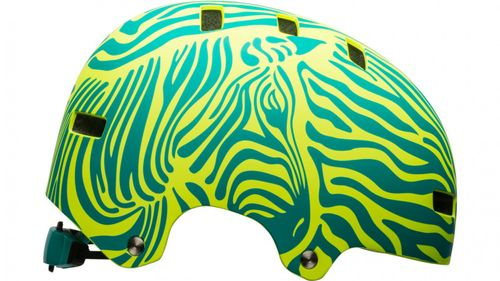 Bell SPAN Skaterhelm & Fahrradhelm-mat emerald/retina sear zebra