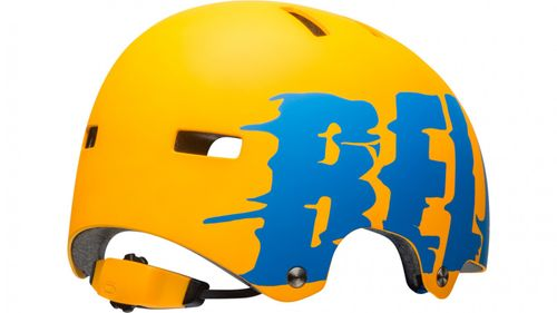 Bell SPAN Skaterhelm & Fahrradhelm-mat orange/force blue liquid