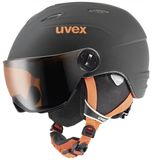 uvex junior visor pro Visier Kinder-Skihelm - black orange mat