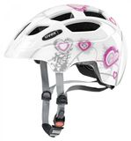 uvex finale junior LED Kinderfahrradhelm - heart white pink