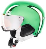 uvex hlmt500 visor Visier Skihelm - chrome green limited edition