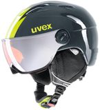 uvex junior visor pro Visier Kinder-Skihelm - titanium lime