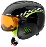 Alpina Carat Visor Visier-Kinderskihelm - black green