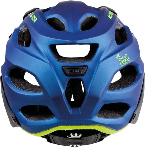Alpina King Carapax Downhill-MTB Helm - darkblue neon