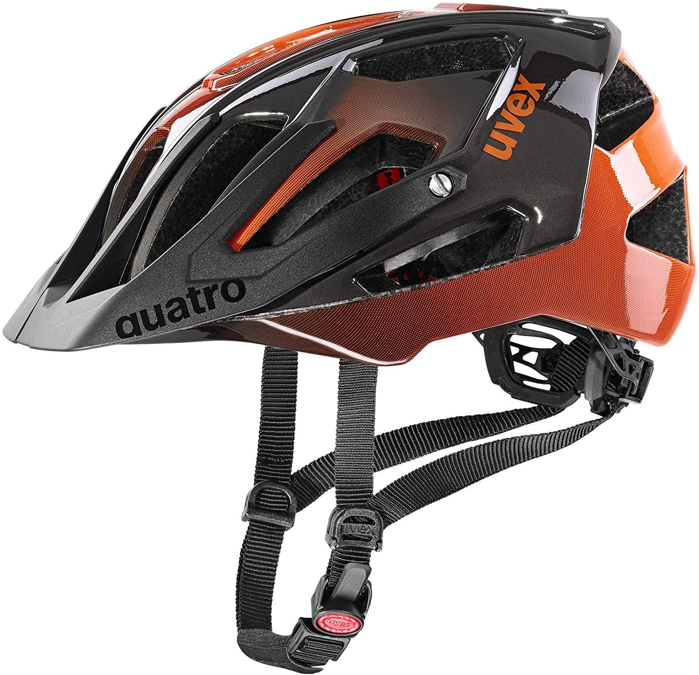 Uvex Quatro Mountainbike Helm Titan Orange Sportkopf Helme Brillen