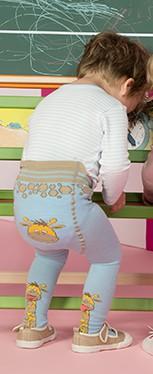 ERGORA Babystrumpfhose 3D-Giraffe | hellblau
