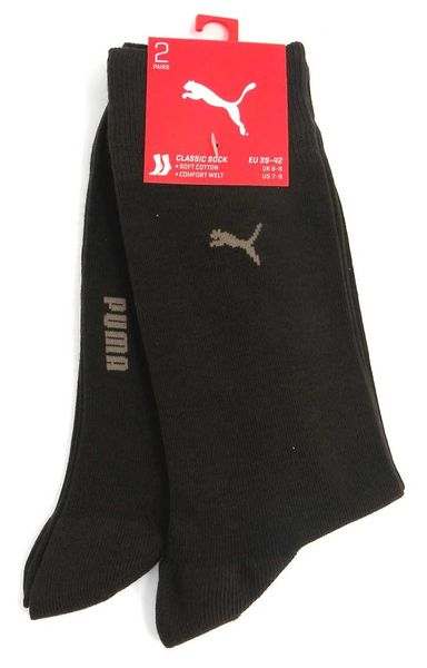 PUMA Men Classic Socks 2p | dark brown