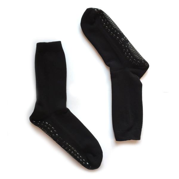 Anti-Rutsch-Socken Vollplüsch schwarz