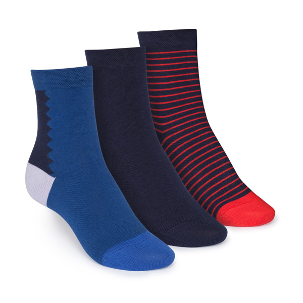 "Thokk Thokk 3er Pack Socken aus Bio Baumwolle Fairtrade ""Deco/Midnight/Stripe"""