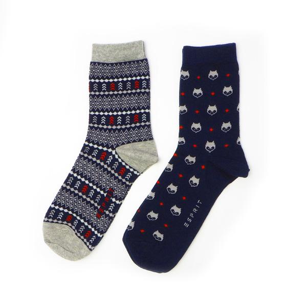 ESPRIT Woodlands Socken 2 Paar marine