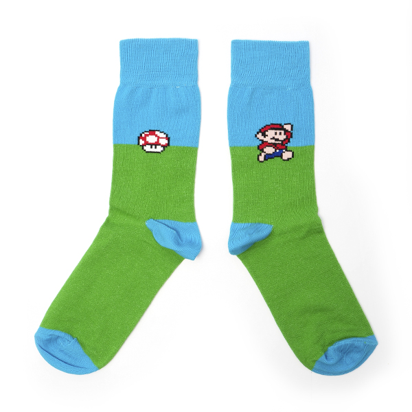 Sammy Icon Socken 8-Bit Let´s Play Super Mario Nintendo Computerspiel