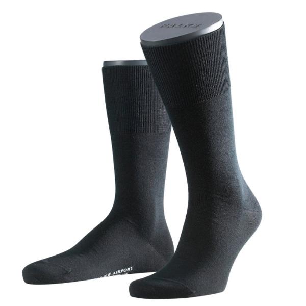 Falke Airport Herren Socken Farbe Merinowolle schwarz 1, 3 oder 9 Paar Superpack