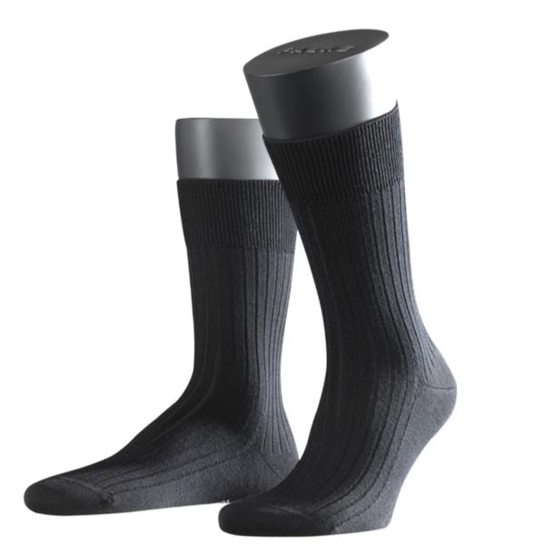 Falke Bristol Pure Herren Socken Farbe 3000, schwarz